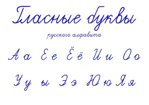 Glasnye bykvy russkogo yazyka